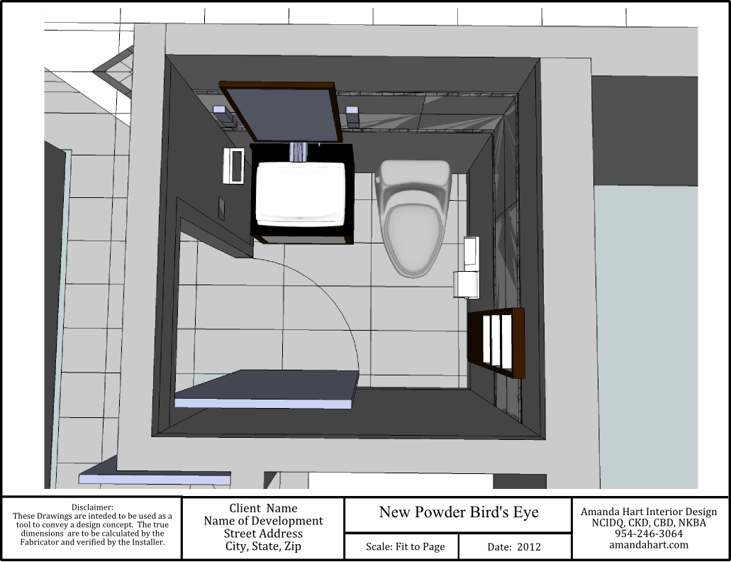 Small powder room design layout for Room design blueprint